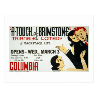 Vintage Federal Theatre Project Touch of Brimstone Postcard