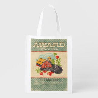 Vintage Feed Sack, Award Feed, grocery bag