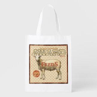 Vintage Feed Sack, Award Feeds, grocery bag