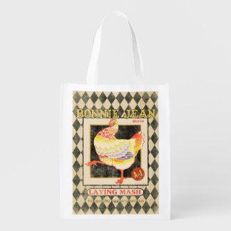 Vintage Feed Sack, Bonnie Jean, grocery bag