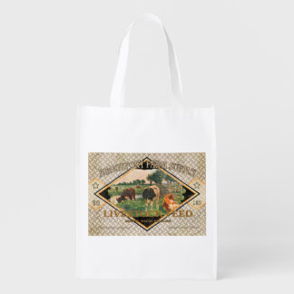 Vintage Feed Sack, Brookport Farms, grocery bag