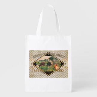 Vintage Feed Sack, Brookport Farms, grocery bag