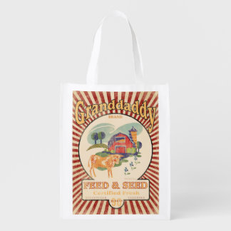 Vintage Feed Sack, Granddaddy Feed, grocery bag