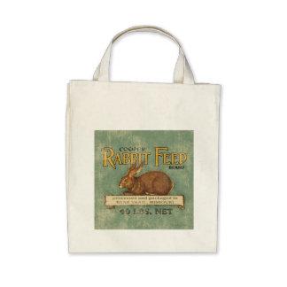 Vintage Feed Sack, Rabbit Feed Bags