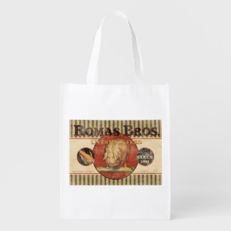 Vintage Feed Sack - Romas Bros. - grocery bag