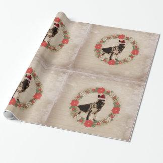Vintage Feel German Shepherd Holiday Paper