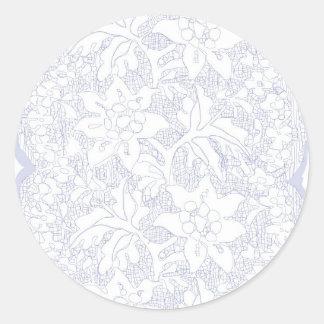 Vintage feminine lace classic round sticker