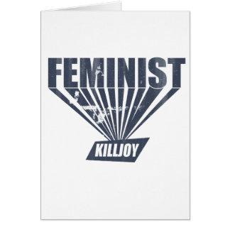 Vintage Feminist Killjoy Greeting Card