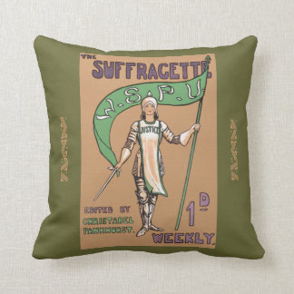 Vintage Feminist Suffragette Cushion