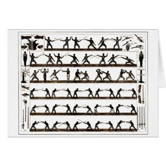 Vintage Fencing Instruction Card