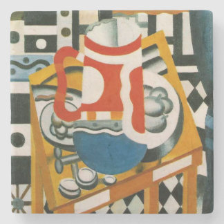 Vintage Fernand Leger Still Life with a Beer Mug Stone Coaster