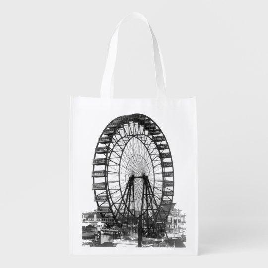 Vintage Ferris Wheel at Chicago World's Fair Market Totes