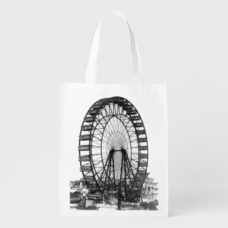 Vintage Ferris Wheel at Chicago World's Fair Reusable Grocery Bag
