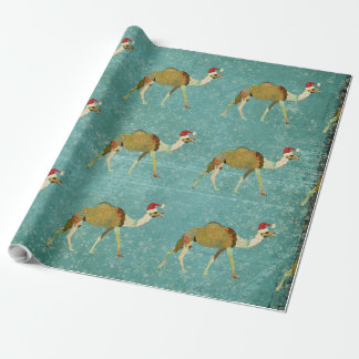 Vintage Festive Camels Wrapping Paper