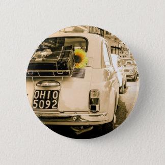 Vintage Fiat 500, Cinquecento in Italy 2 Inch Round Button