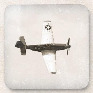 Vintage Fighter Airplane Plastic Coasters (6)