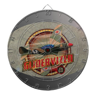 VINTAGE FIGHTER PLANE. DARTBOARD
