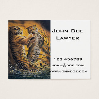 Vintage Fighting Tigers Business Card
