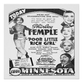 Vintage Film Advert for Shirley Temple Poster