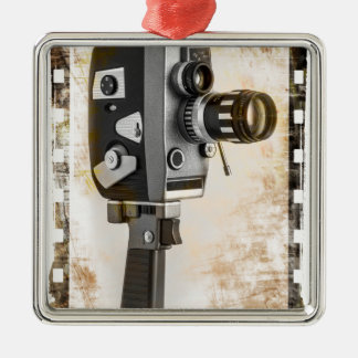 Vintage Film Camera Metal Ornament