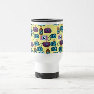 Vintage Film Camera Pattern Travel Mug