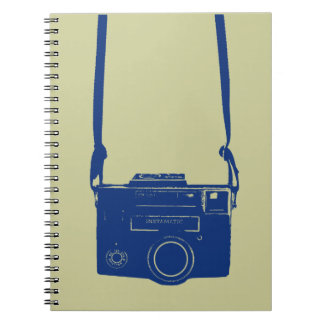 Vintage Film Camera with Neck Strap Notebook