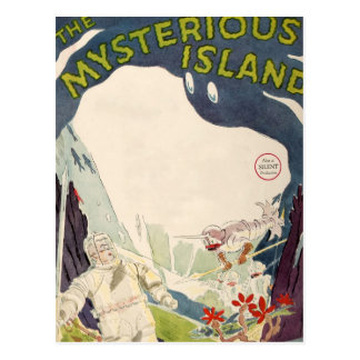 Vintage Film Movie Mysterious Island Nautical Sea Postcard