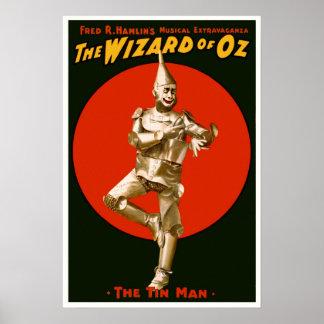 Vintage Film Poster - The Wizard of OZ Tin Man