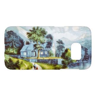 Vintage Fine Art Cottage on the Creek Samsung Galaxy S7 Case