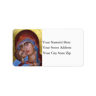 Vintage Fine Art of Mary and Baby Jesus Christmas Label
