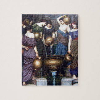 Vintage Fine Art, The Danaides by JW Waterhouse Jigsaw Puzzle