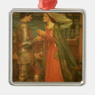 Vintage Fine Art, Tristan and Isolde by Waterhouse Metal Ornament
