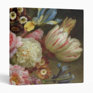 Vintage Fine Flower Study, Balthasar Denner 3 Ring Binder