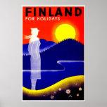 Vintage Finland Travel Poster
