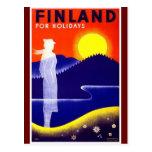 Vintage Finland Travel Poster Design Postcards