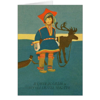 Vintage Finnish Christmas And New Year Card