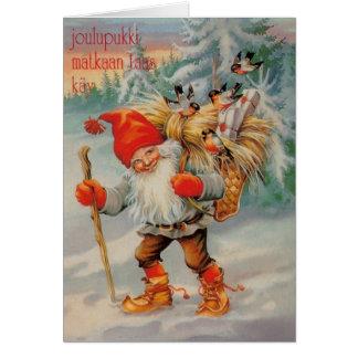 Vintage Finnish Joulupukki Christmas Card