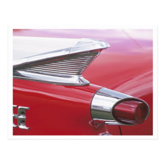 Vintage Fins and Chrome Classic Car Photo Postcard