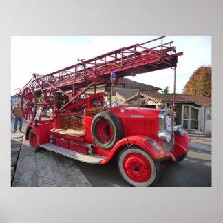 Vintage Fire Engine.... Poster