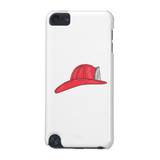 Vintage Fireman Firefighter Helmet Drawing iPod Touch 5G Cover