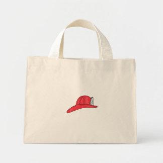 Vintage Fireman Firefighter Helmet Drawing Mini Tote Bag