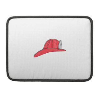 Vintage Fireman Firefighter Helmet Drawing Sleeve For MacBooks