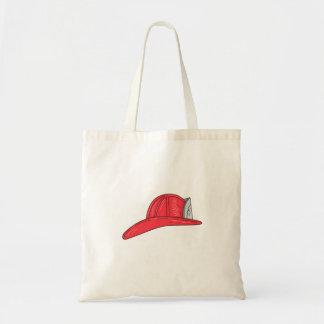 Vintage Fireman Firefighter Helmet Drawing Tote Bag