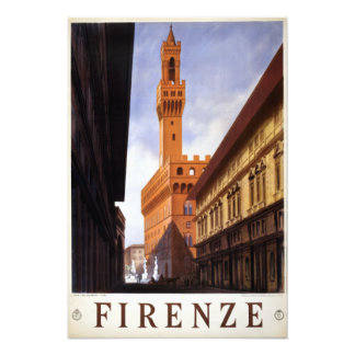 Vintage Firenze Italy Travel Photo Print