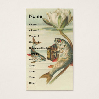 Vintage Fish Business Card
