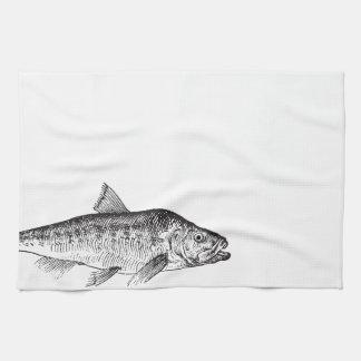 Vintage Fish illustration Kitchen Towel