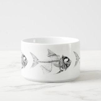 Vintage fish skeleton etching chili bowl