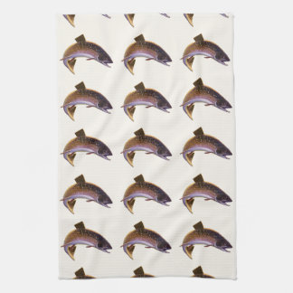 Vintage Fish, Sports Fishing Fisherman Kitchen Towel