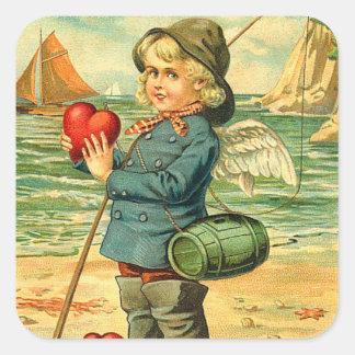 Vintage Fisherman Valentine Stickers