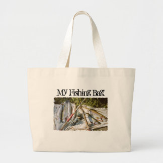 Vintage Fishing Poles and Trout Tote Bag